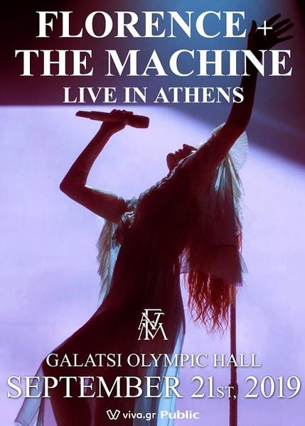 Florence + The Machine: Τρίτη συναυλία στο Κλειστό Ολυμπιακό Γήπεδο Γαλατσίου το Σάββατο 21 Σεπτεμβρίου