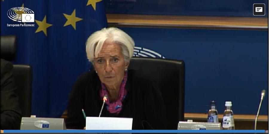 H Κριστίν Λαγκάρντ στην επιτροπή Οικονομικών του ΕΚ