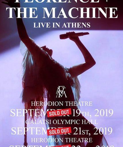 Florence + The Machine - Τελευταίες λεπτομέρειες για τις 3 συναυλίες