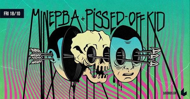 Μινέρβα + Pissed-Off Kid Live at six d.o.g.s την Παρασκευή 18 Οκτωβρίου