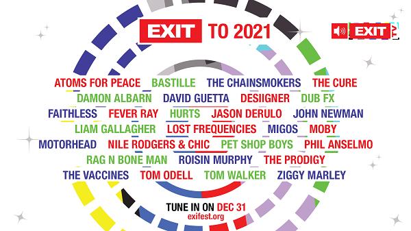 Exit festival 20 χρόνια μουσικής - έρχεται κοντά μας την παραμονή της Πρωτοχρονιάς