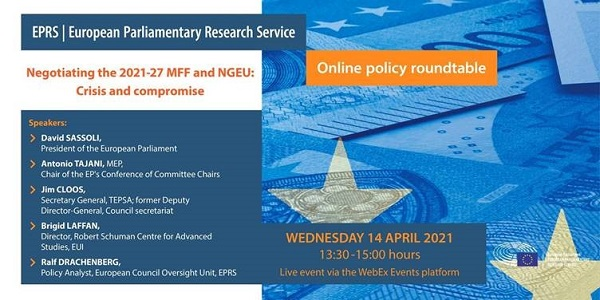 """Διαδικτυακή συζήτηση: """"Διαπραγματεύσεις για το ΠΔΠ 2021-2027 και το Σχέδιο Ανάκαμψης: Κρίση και συμβιβασμός"""", με τη συμμετοχή του προέδρου Sassoli"""