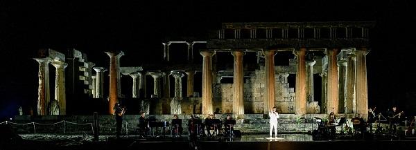 """A Sunset In Greece"" συναυλία του Γιώργου Περρή στον Ναό της Αφαίας στην Αίγινα"